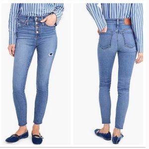NWT J. Crew Curvy Toothpick Button Fly Jeans 26